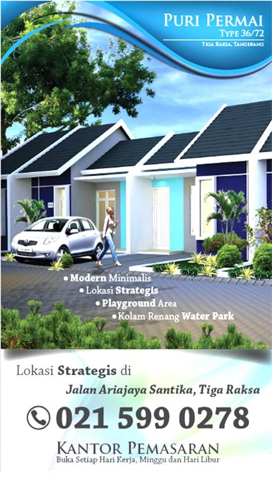 brosur perumahan Tangerang Tigaraksa Puri Permai Tipe 36 telpon pemasaran ITA 0877 7057 6702 - 021 599 0278 dan SANTI 0815 8633 8321