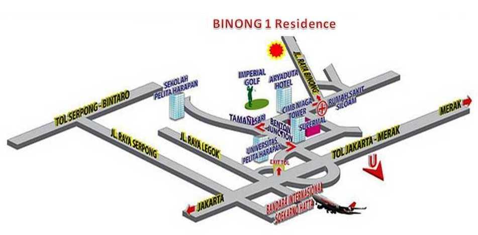Lokasi Prima didepan Perumahan BINONG PERMAI Jalan Raya Binong Permai No.1, Karawaci Tangerang. Terdekat dari Pusat Kota Lippo Karawaci