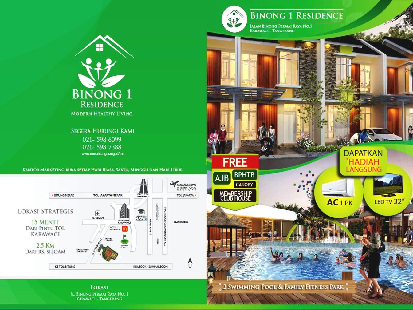 Binong 1 Residence Karawaci Tangerang telpon 021 598 7388